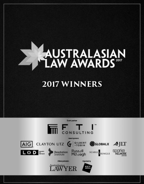 2017 Australasian Law Awards Winners