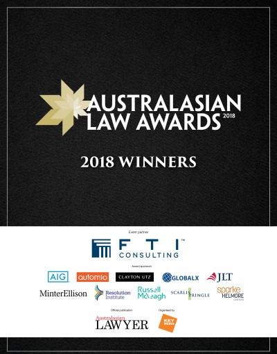 2018 Australasian Law Awards Winners