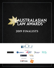 2019 Australasian Law Awards Finalists