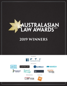 2019 Australasian Law Awards Winners