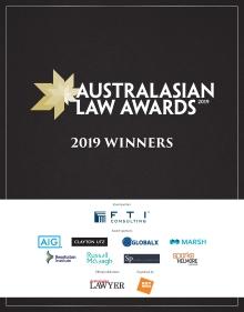 2019 Australasian Law Awards Winners