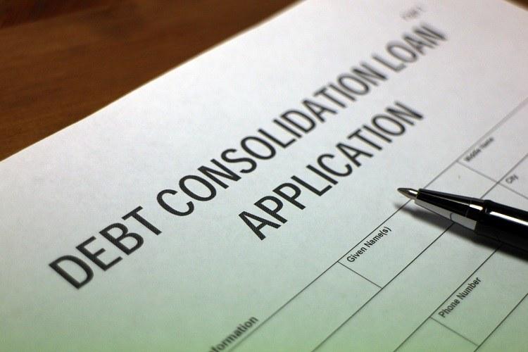 A debt consolidation application.