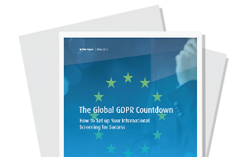 How does the GDPR impact your background screening program?