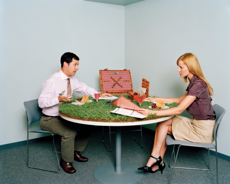 Vegetable walls and wearable computers: would you work in this office?