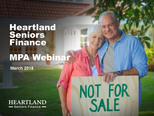 MPA Diversification Webinar - Reverse Mortgages