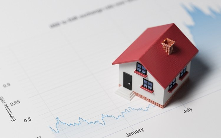 A home is paired with an interest rate