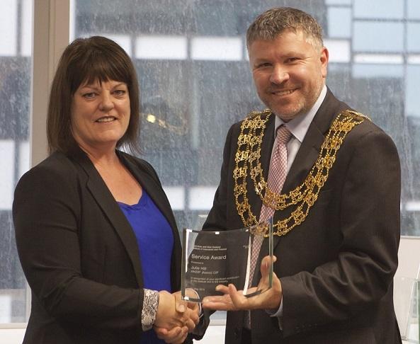 Industry advocate clocks up service award
