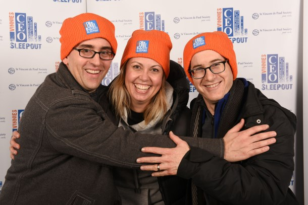 Corrs partners take part in CEO Sleepout