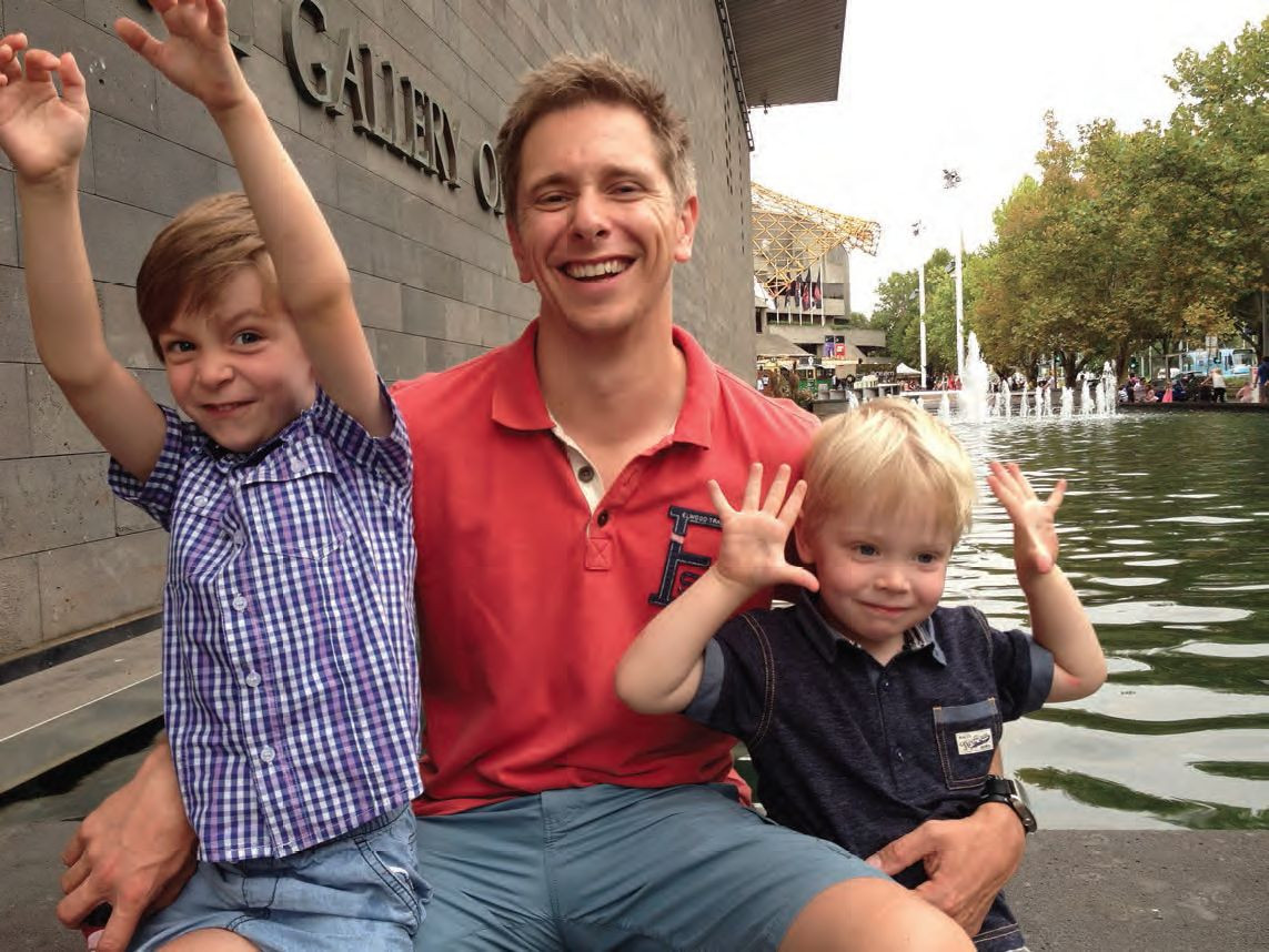 Matt Armstrong And His Children