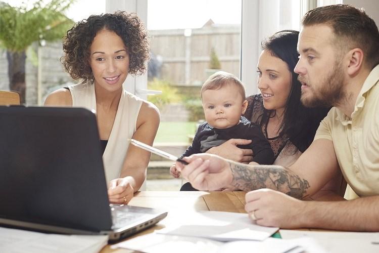 A mortgage advisor explains common myths to a family
