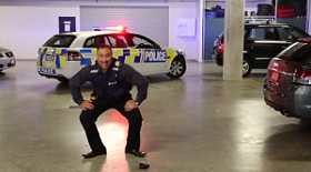 NZ police bumps recruitment by busting a move