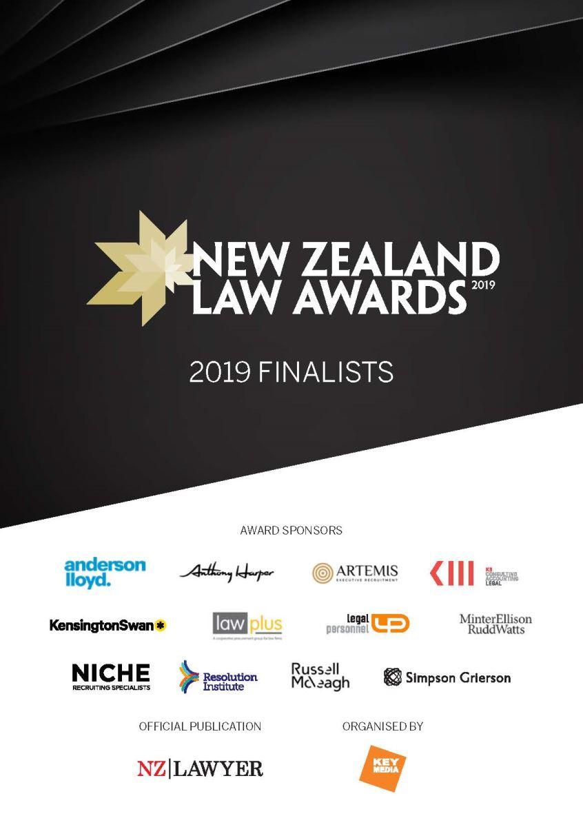 2019 New Zealand Law Awards Finalists