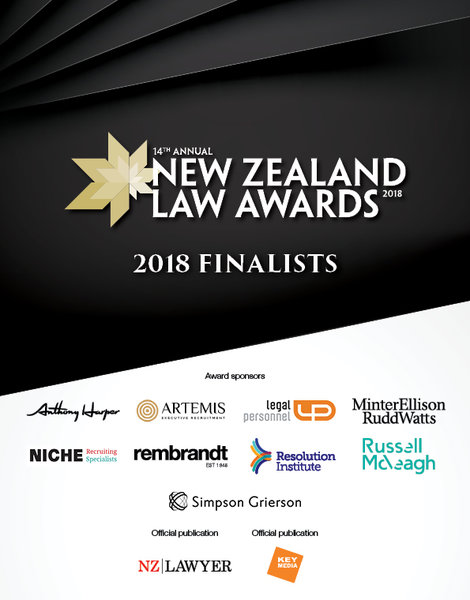 2018 New Zealand Lawyer Awards Finalists