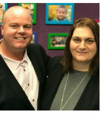 David Sim and Natalie Mansour, Principals, Glenmore Park Public School and Lurnea Public School