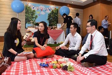 OCBC HR team hosts sky picnic for new grads