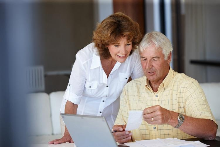 An Older Couple Applying for a Home Loan