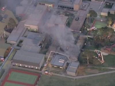 Fire engulfs exclusive school