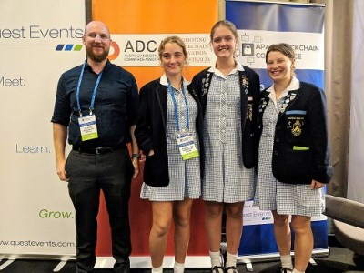 Schoolgirls play lead role at international conference
