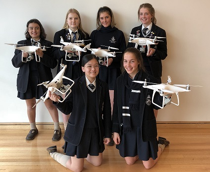 Girls become accredited drone pilots