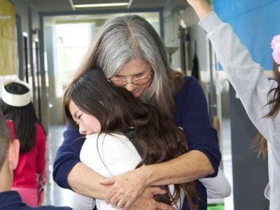 School bans students from hugging
