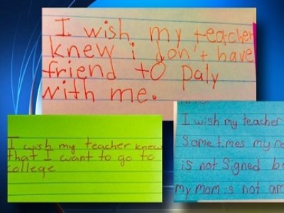 What do your students wish you knew about them?