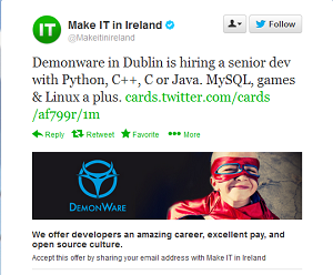 Flurry of interest in first Twitter-integrated job ad