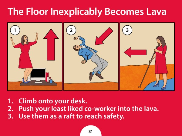 Lighter Side: HR trolls workforce with absurd safety rules