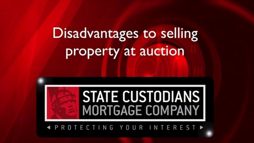 Disadvantages to selling property at auction