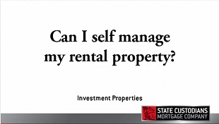 Can I self manage my rental property