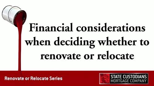 Financial considerations when renovating
