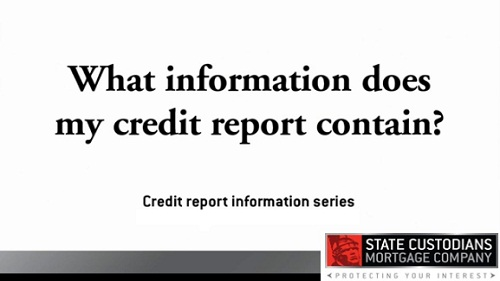 What information does a credit report contain?