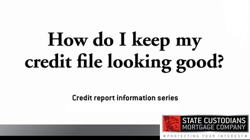 How to keep your credit report looking good
