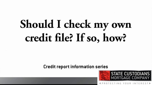 Should I check my own credit file?