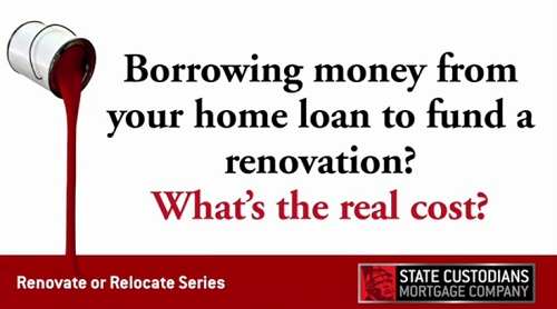 Borrowing money from your home loan to fund renovations