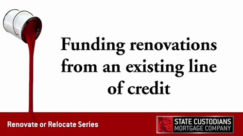 Funding renovations from an existing line of credit