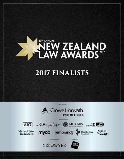 2017 New Zealand Law Awards Finalists