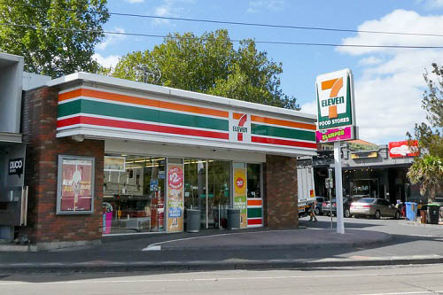 CLOSE CALL: SUV crashes into 7-Eleven, narrowly missing customer