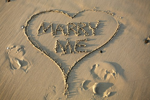 Beach proposal prompts cover query