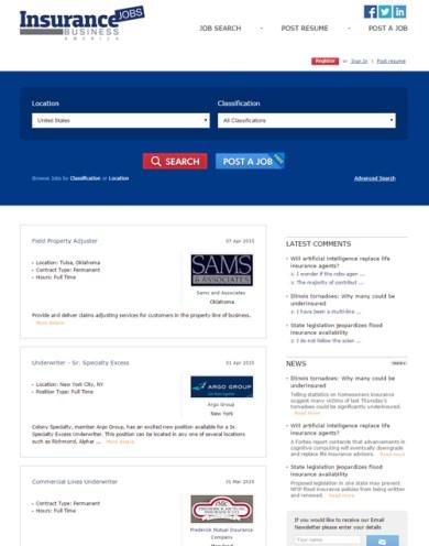 Insurance Business Jobs America