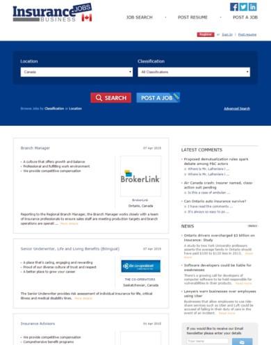 Insurance Business Jobs Canada