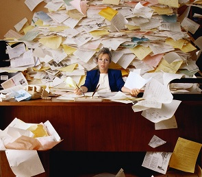 Looking for the office star? Look for the messy desk